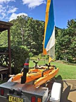 HOBIE Adventure Island Kayak with registered trailer. Lowrance 5 fish finder, chartplotter &...