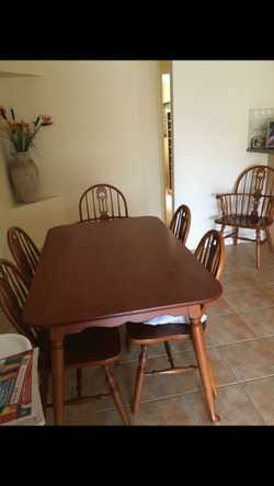 34cm x 54cm Dining Table with 6 chairs.