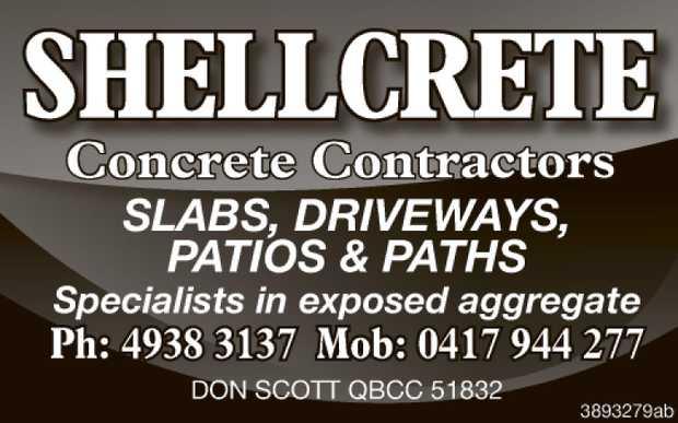 Concrete Contractors    SLABS  DRIVEWAYS  PATIOS & PATHS  Specialists i...