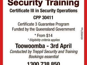 Security Training - Toowoomba 3rd April