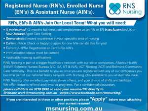 Registered Nurse (RN's), Enrolled Nurse (EN's) & Assistant Nurse (AIN's).