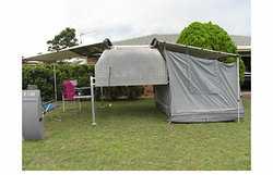2 awnings/tent,  waeco fridge,  2 110amp batt.  200W solar panel,  ...
