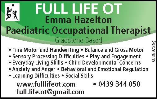 Paediatric Occupational Therapist  Gladstone Based    Fine Motor and Handwri...