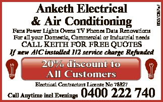 Fans Power Lights Ovens TV Phones Data Renovations   For all your Domestic, Commercial or Ind...