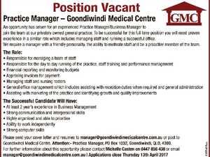 Practice Manager – Goondiwindi Medical Centre