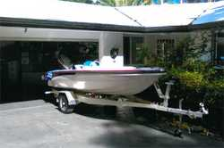 FIBREGLASS Ski & Fishing Boat, 50hp Yamaha, trailer A1 condition, safety gear, 2 x swivel sea...