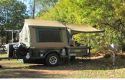 CUSTOMLINE 7x5 Camper trailer semi offroad, 2004, QS mattress platform, gas cyl & stove, 120L...