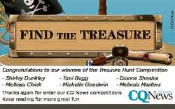 Congratulations to our winners of the Treasure Hunt Competition - Shirley Dunkley - Mellissa Chick -...