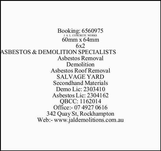Asbestos Removal
