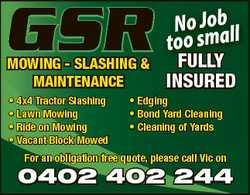 Slashing & Maintenance    4x4 Tractor Slashing  Lawn Mowing  Rid...