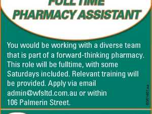 You would be working with a diverse team that is part of a forward-thinking pharmacy. This role will be fulltime, with some Saturdays included. Relevant training will be provided. Apply via email admin@wfsltd.com.au or within 106 Palmerin Street. 6561461aa FULL TIME PHARMACY ASSISTANT
