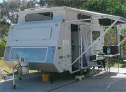 MILLARD 14ft 2003 Pop top, 2 S/beds, 3 way frig, gas cooktop, m/w, 2 w/tanks, solar, awning, full...
