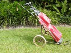 beginners set, 7 clubs, bag & buggy