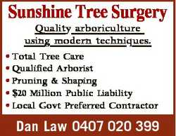 Quality arboriculture using modern techniques. * Total Tree Care * Qualified Arborist * Pruning &...