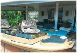 STEALTH 2000 2-man fishing & hunting kayak + o/board motor mount, elect motor mount, launchin...