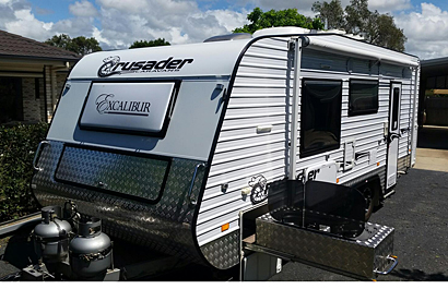 Crusader Excalibur 2015, top cond, heaps extras, 21'6, generator cpbd, external kitch, cook...