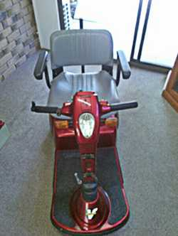 MOBILITY scooter, fully equiped, 2spd, Ferrari Pride, good condition, $1350. For more information...
