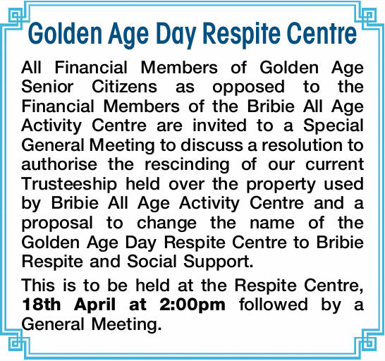 Golden Age Day Respite Centre 