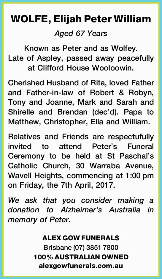 Aged 67 Years