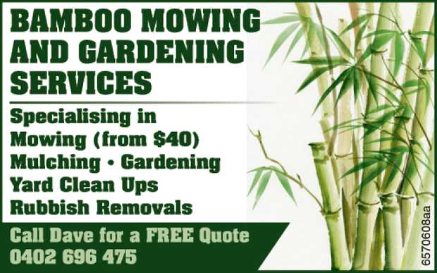 Specialising in Mowing (from $40)