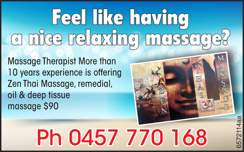 Massage Therapist More than 10 years experience is offering