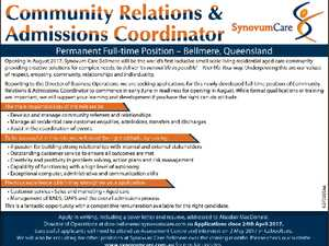 COMMUNITY RELATIONS & ADMISSIONS COORDINATOR