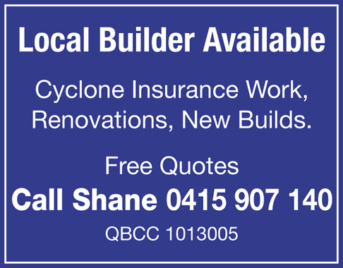 Cyclone Insurance Work  Renovations  New Builds  Free Quotes   Call Shane...