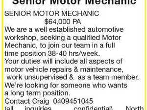Senior Motor Mechanic