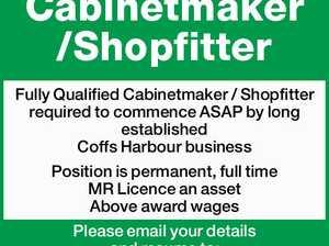 Cabinetmaker /Shopfitter Fully