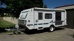 KEDRON X Country 17ft. Poptop 2003. 2 x solar panels, 2 new batteries, hot water, ext. shower, is...