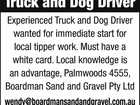 Truck and Dog Driver