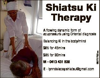 Shiatsu Ki Therapy & Oriental Diagnosis, Lynn De Lacey Frost STAA 901765   5 Breakers Pla...