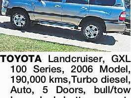 TOYOTA Landcruiser, GXL 100 Series