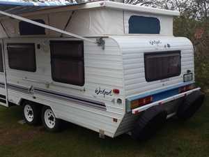 Good condition, 18ft, island bed, dual axle, 3 way fridge, gas oven & microwave, TV/DVD, reg. Jan '18.