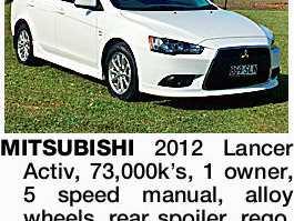 MITSUBISHI 2012 Lancer Activ