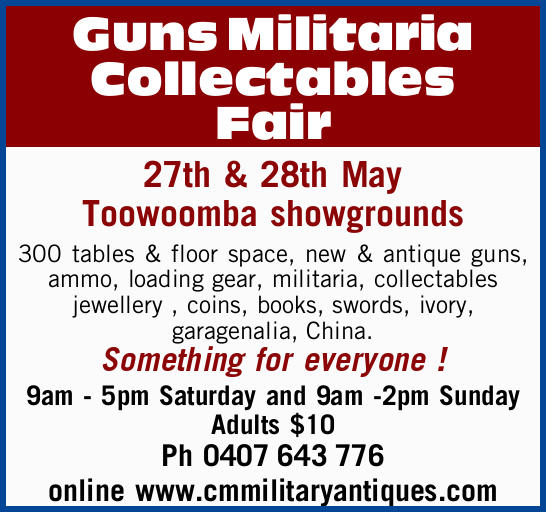Guns Militaria Collectables Fair
