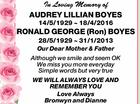 BOYES Audrey & Ron