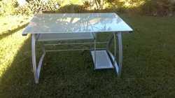 Glass and Aluminium Computer / work desk