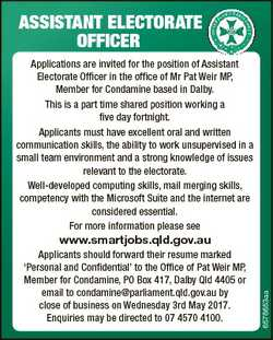 ASSISTANT ELECTORATE OFFICER Applications are invited for the position of Assistant Electorate Offic...