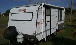 "16"" Roadstar VGC, 3 way fridge, db island bed, annex, new tyres, bearings, awning, oven/stov..."