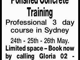 Polished Concrete Training