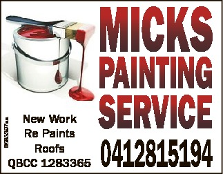 New Works   Re Paints   Roofs and More   QBCC 1283365   0412 815 194