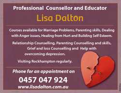 Professional Counsellor and Educator Lisa Dalton Courses available for Marriage Problems, Parenting...
