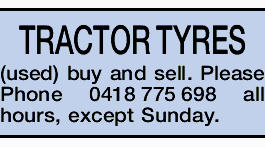 TRACTOR TYRES (used) buy and sell.