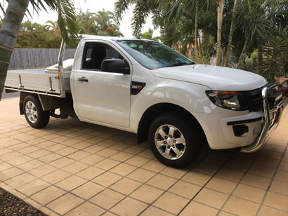 2013 RANGER 2.2 diesel, 6 spd man, 63,500 kms, alloy wheels, tray & tool box, nudgebar, rollb...
