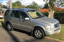 Mercedes Benz ML 320,  2002  7 seat wagon,  a/c,  tow bar,  193K, ...