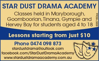 Classes held in Maryborough, Goomboorian,Tinana, Gympie and Hervey Bay for students aged 4 to 18...