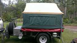 CAMPER TRAILER, kitchen, 80L water, dbl bed, huge annex, elec brakes, detachable boat rack, lots...