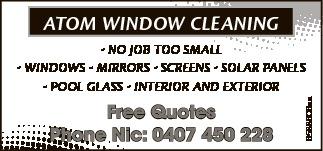 Free Quotes   Phone Nic: 0407 450 228   no Job too small   Windows, Mirrors, Sc...