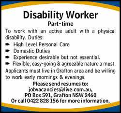 To work with an active adult with a physical disability.